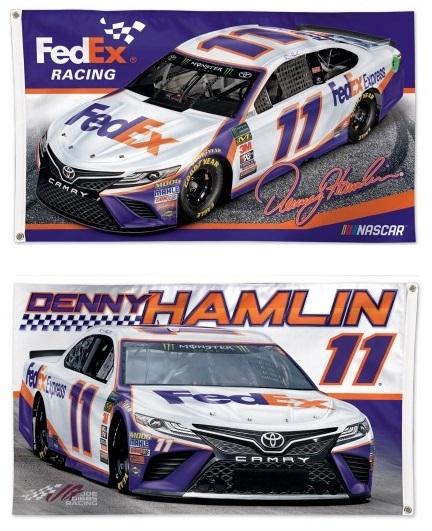 Denny Hamlin Flag 2 Sided 3x5 11 Feex Race Car 2019 Denny Hamlin Racing Hamlin
