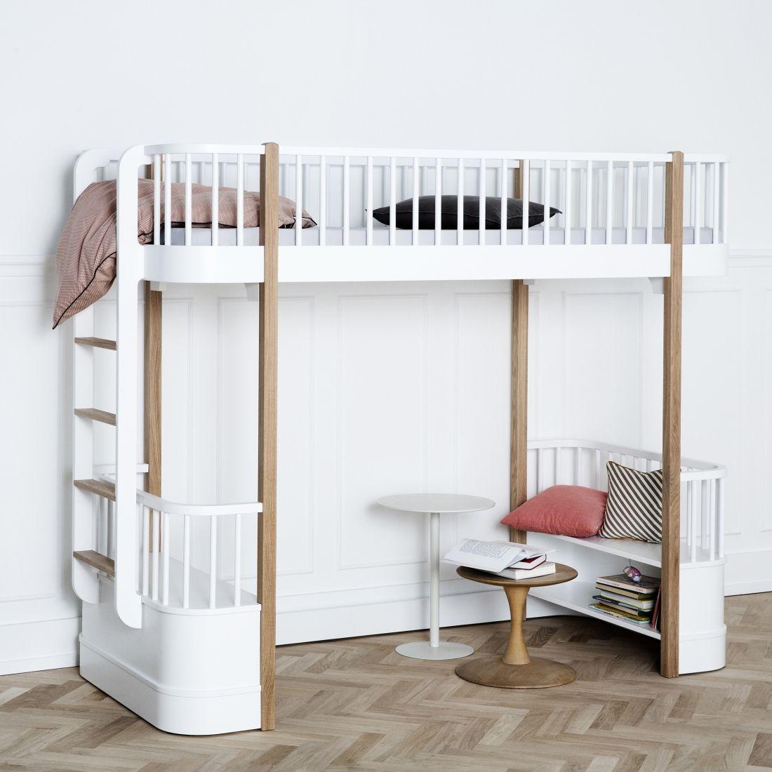 Oliver Furniture Kinder Hochbett U0027Woodu0027 Eiche/weiß 90x200cm   Im  Fantasyroom Shop Online Bestellen Oder Im Ladengeschäft In Lörrach Kaufen.