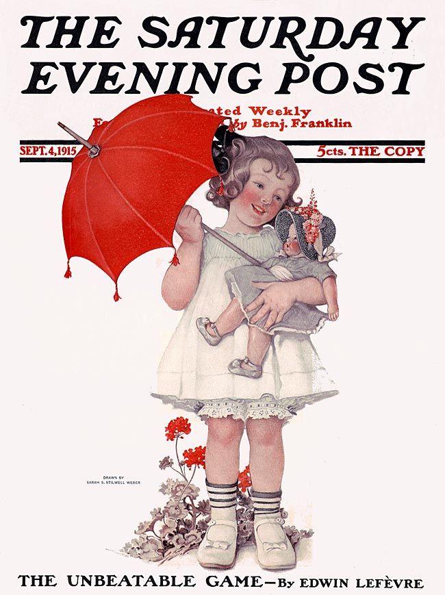 Saturday Evening Post 1915, cover artist, Sarah B. Stilwell Weber