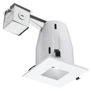 lithonia lighting 4 in matte white recessed square lamped led