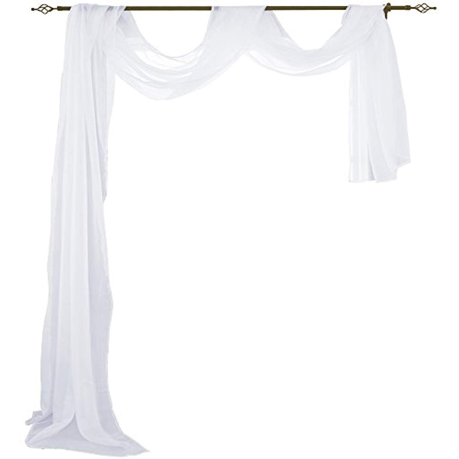 Home decor window  holking sheer panel curtains scarfhome decor window sheer valance