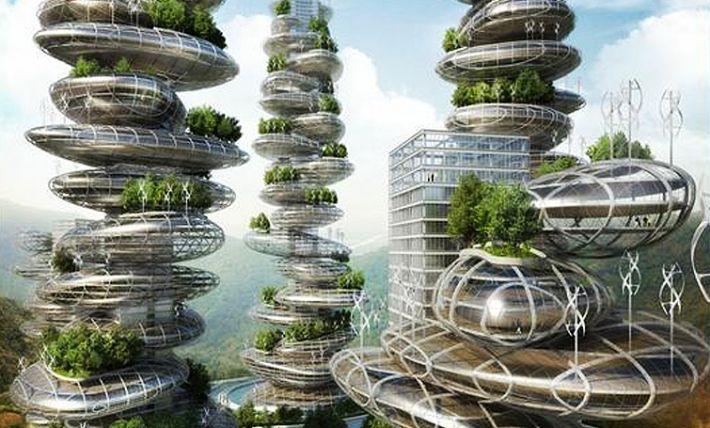 Skyscraper concept relocates China's farms to the clouds