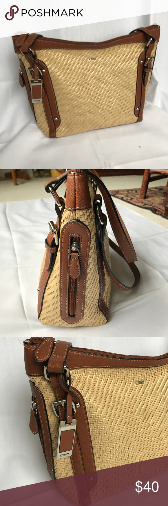 7e0db3dc9f ... discount chaps ralph lauren woven shoulder bag nwot new without tags  never worn chaps ralph lauren ...