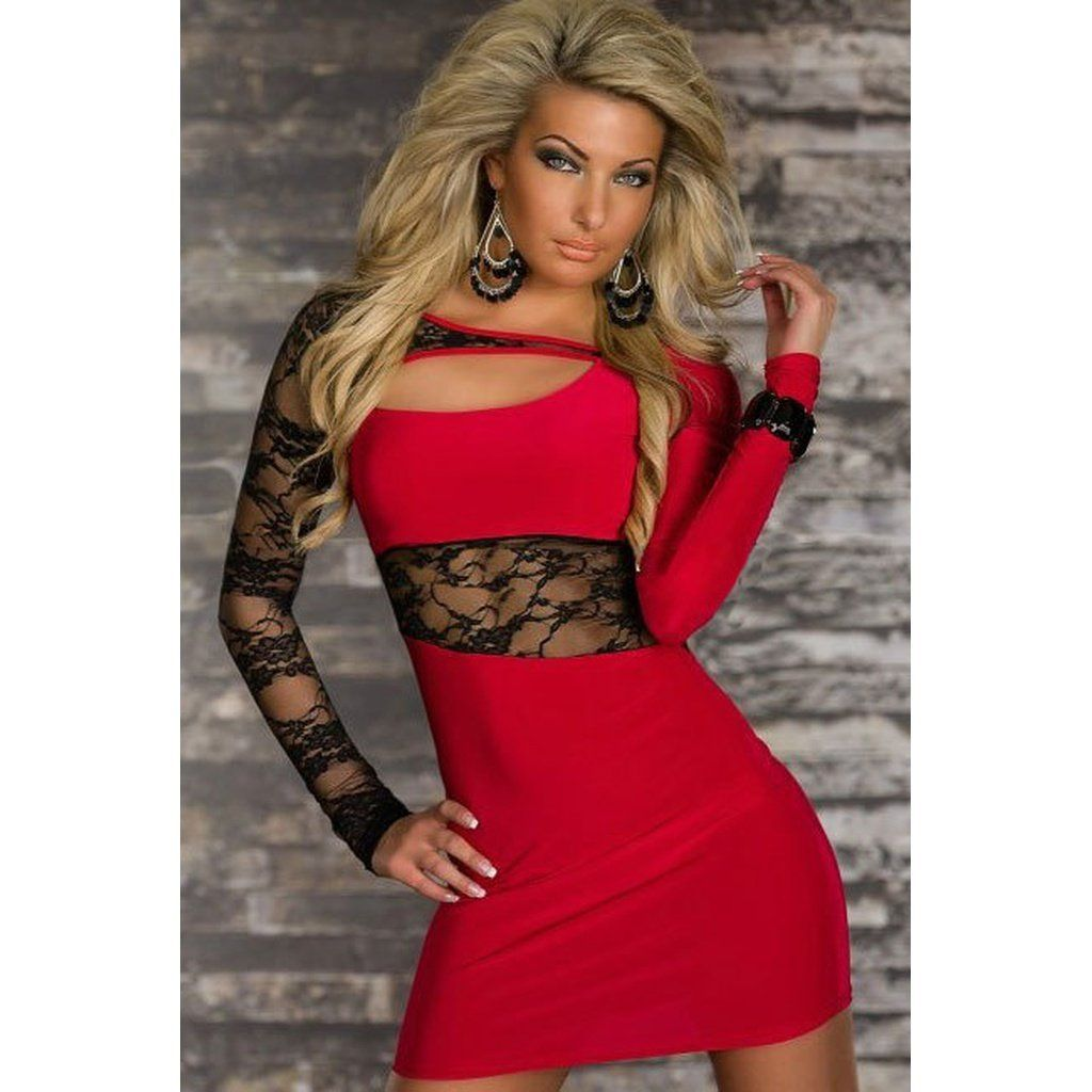 Plus size long sleeve slim lace dress products in pinterest