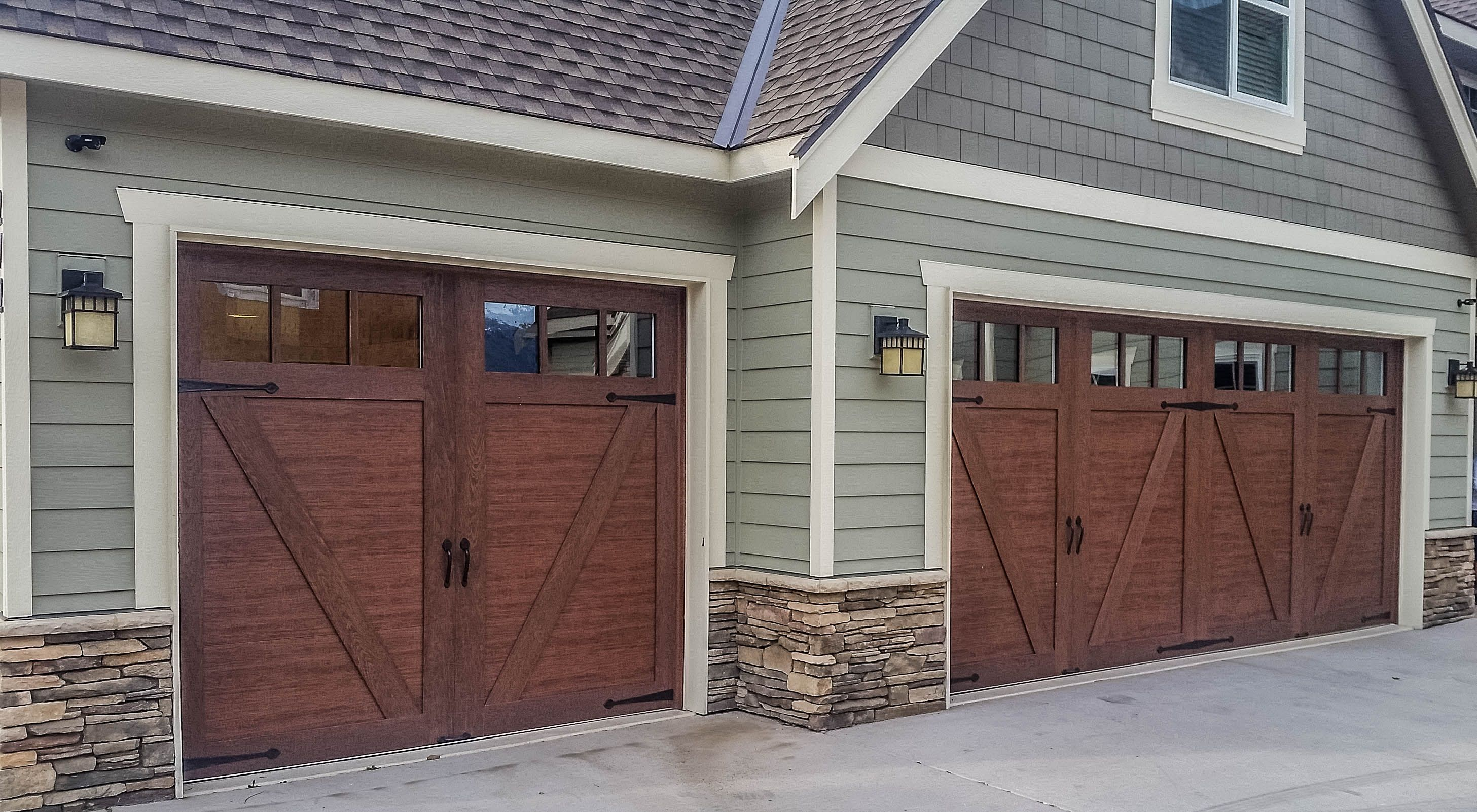 Sample Home Outside House Colors Faux Wood Garage Door House Exterior