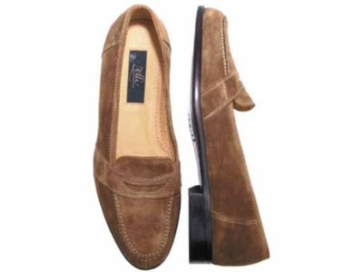 Numano Italian Calf Suede | SilkRoadEXPO Spaniel rust suede penny with distinctive contrast stitching.  Check out our matching leather belt... #mensfashion #leathershoes #leather #stylish #shoe #shoelover #shoelovers