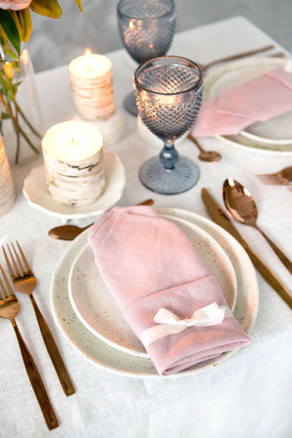 Place setting, Pottery Wedding Set, Ceramic dinnerware set, Wedding ...