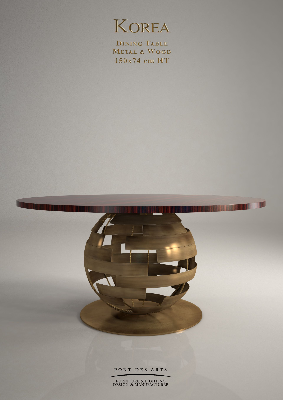 Korea Dining Table Designer MONZER Hammoud Pont des Arts Studio