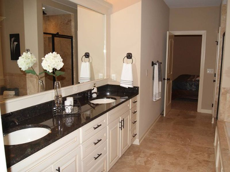 Black Pearl Granite Countertop | Countertop inspiration ... on Bathroom Ideas With Black Granite Countertops  id=27146