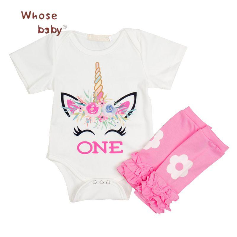 28c7d7a25 2018 Baby Clothing Sets Unicorn Printed Newborn Clothes Girl Set 2Pcs  Bodysuit+Flowers Legging 1Year Birthday Infant Baby Set //Price: $22.92 //  #kids