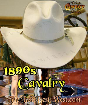 fbe67c80568fd 1890s Cavalry Hat an authentic old west cavalry hat custom made by the last  best west This is the classic look sported by the US Cavalry in the 19th  Century