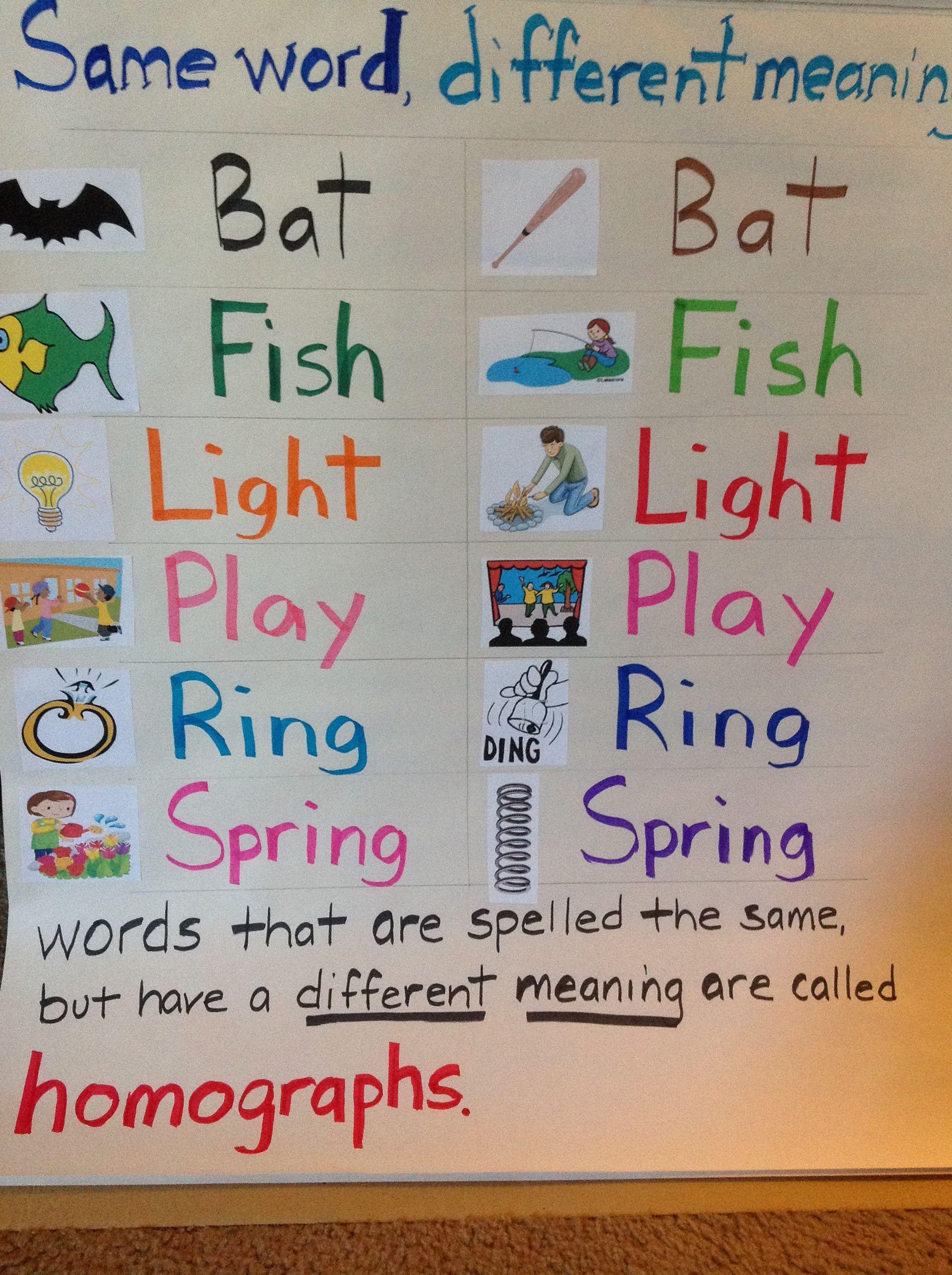 1st Grade Grammar Lesson On Homographs