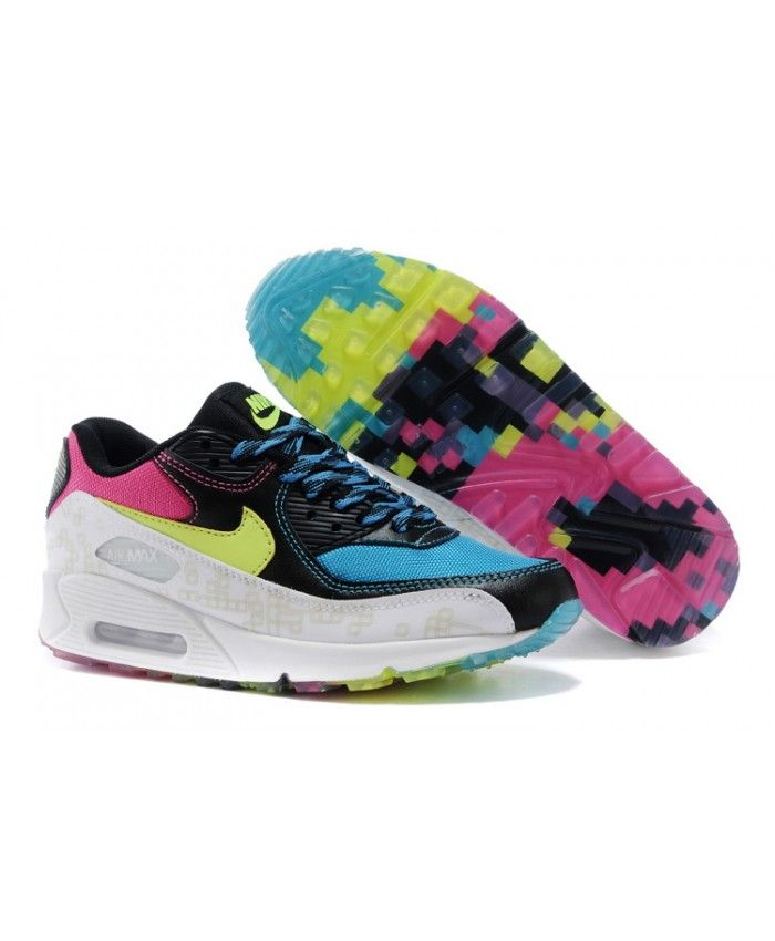 best website e9049 c9ed1 Nike Air Max 90 Black Pink Yellow UK The shoes look good. Soles of the  color is also very bright, is a girls prefer.