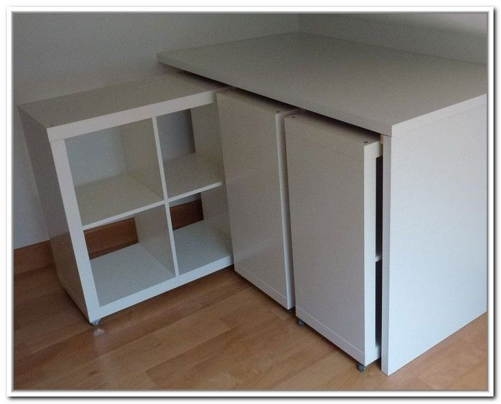 Retractable Storage Furniture With Ikea Kallax Shelves Diy