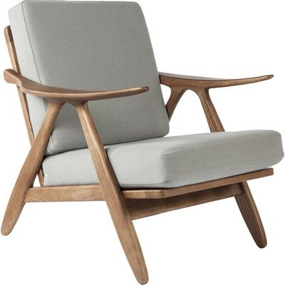 DCOR Design Hattem Lounge Chair Leather: Gray