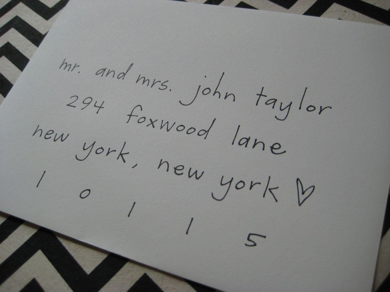 Wedding invitation calligraphy simple elegance font etsy