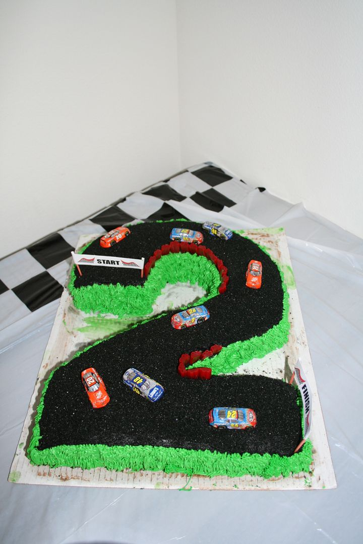 second birthday race track cake chocolate race cars from oriental