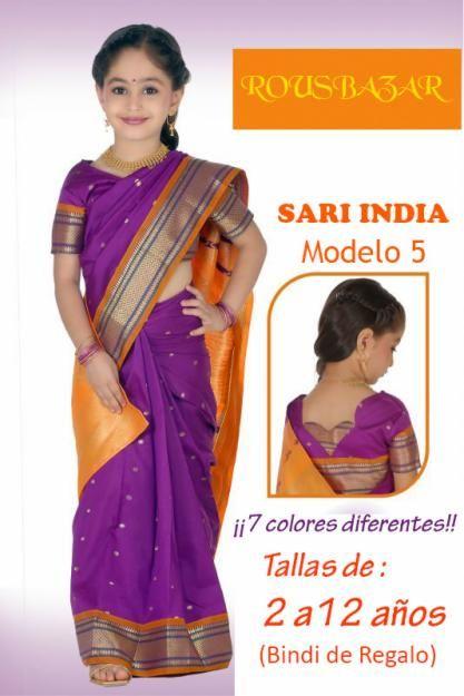 saris niña, bollywood niña, traje hindu niña, en España. Baratos, disfraz