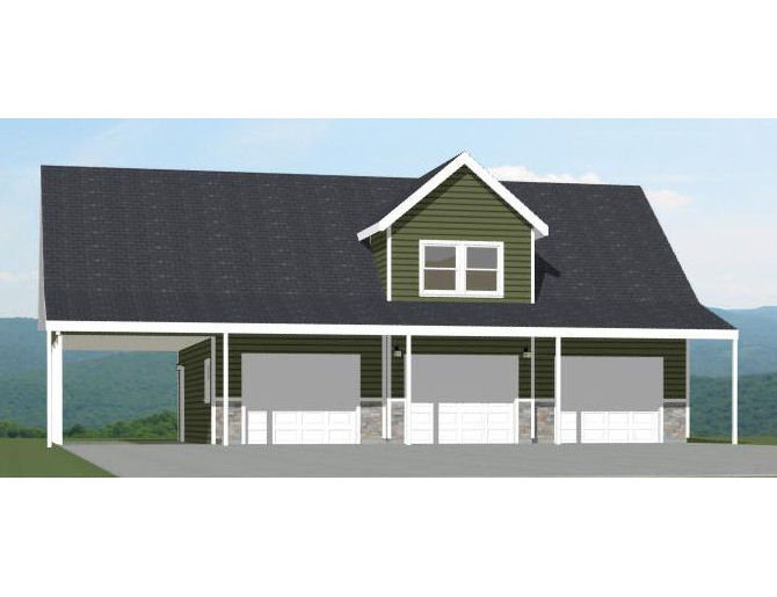 40x30 3Car Garage 2,065 sq ft PDF Floor Plan