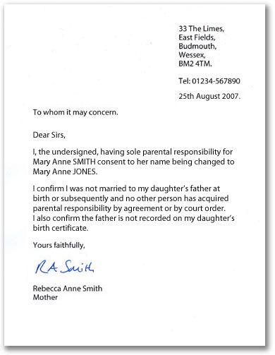 permission letter sample