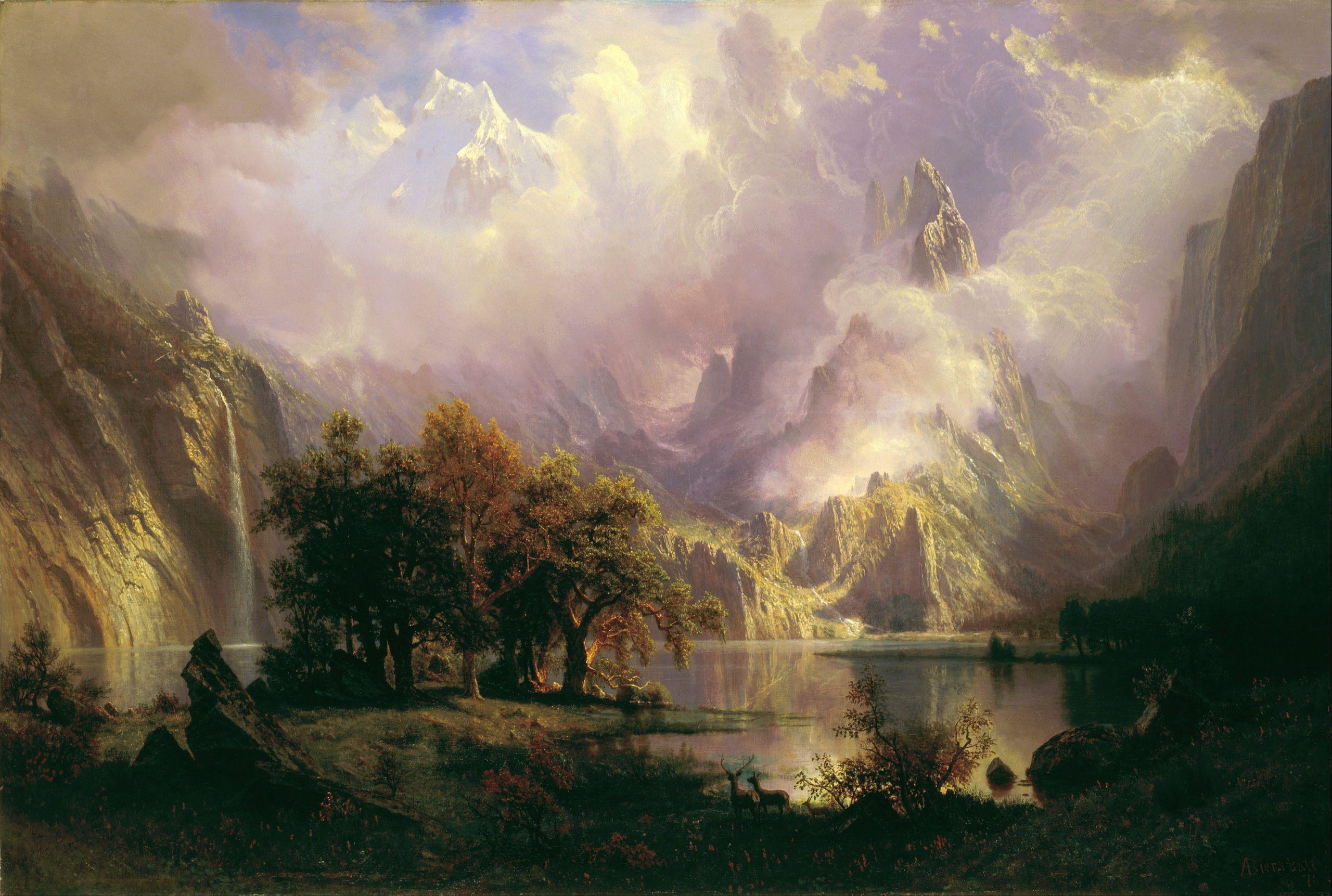 Albert Bierstadt - Rocky Mountain Landscape - Google Art Project - Albert Bierstadt - Wikipedia, the free encyclopedia