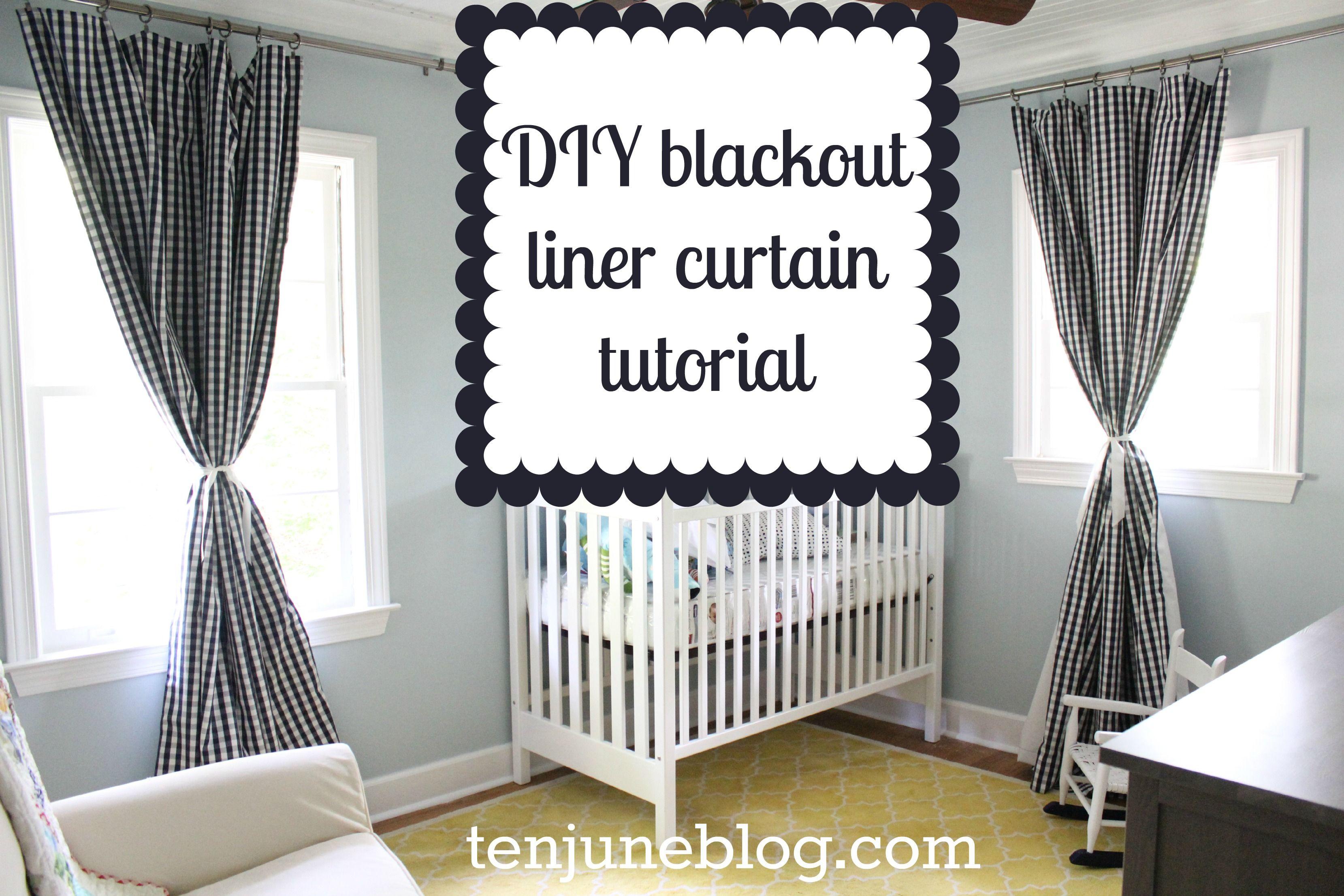 DIY blackout liner panel nursery curtains  DIY