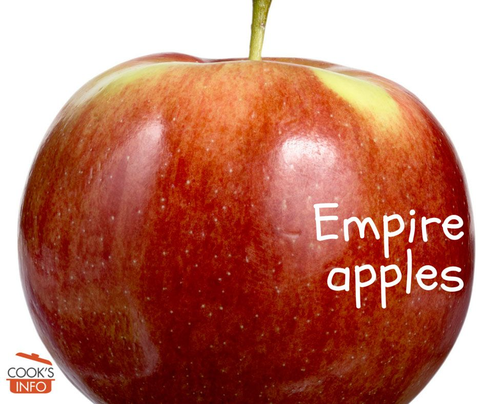 """Empire Apples were developed in New York State (the """"Empire"""" State). They are perhaps best used as a fresh-eating apple, but some people like to add them to their cider blends as well. #empireapples"""