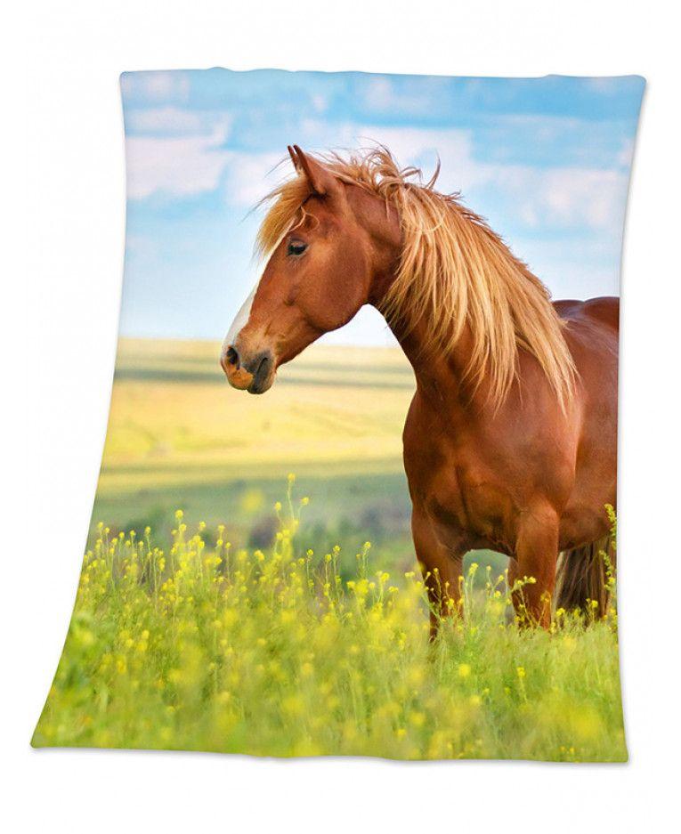 Horse fleece blanket animal bedroom horses fleece blanket