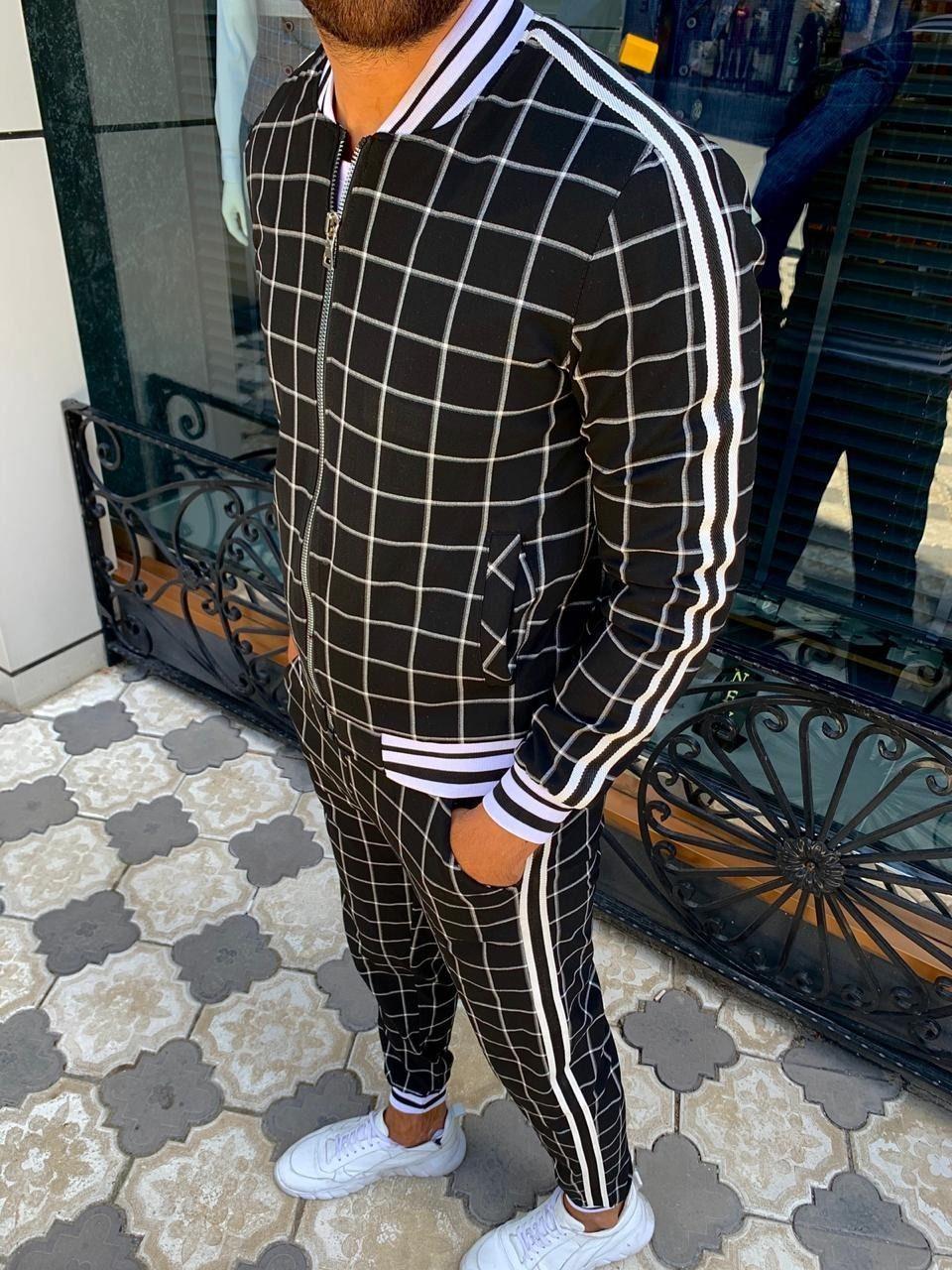 Womens Mens Unisex Jogging suit Tracksuit Tracksuit Zip Hoodie Tartan