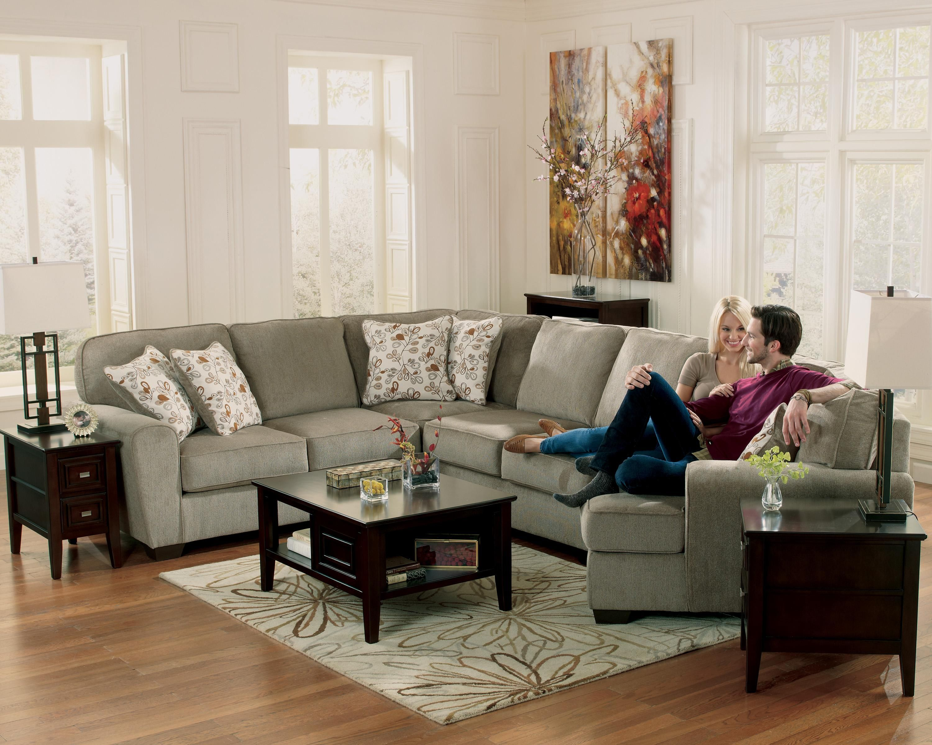Patola Park Patina 4 Piece Small Sectional With Right Cuddler By Ashley Furniture At Northeast Factory D Living Room Sectional Furniture Sectional Sofa Couch #rotmans #living #room #sets
