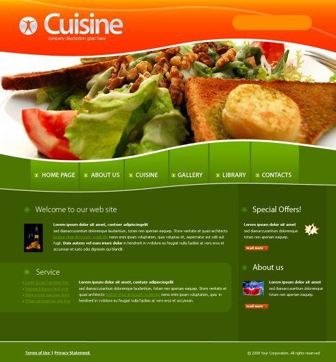 4218 - Food & Restaurant - Website Templates - DreamTemplate ...