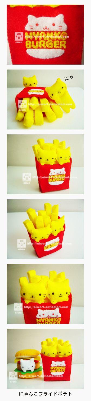 nyanko fries by ~aiwa-9 on deviantART