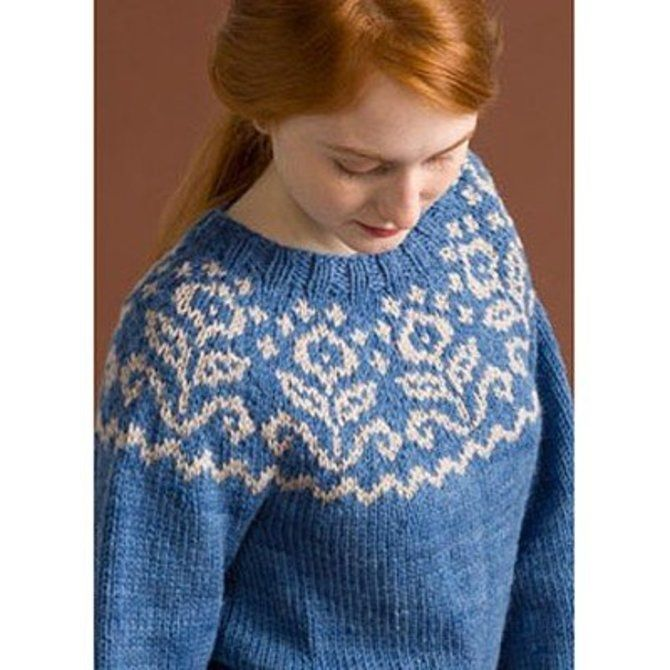 Classic Elite Yarns Big Liberty Wool Yoke Pullover (Free) -  ()