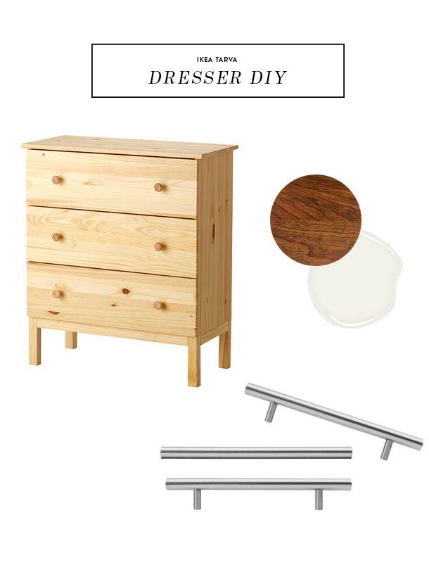 ikea tarva dresser refinished. Before \u0026 After Ikea Tarva Dresser DIY - Earnest Home Refinished