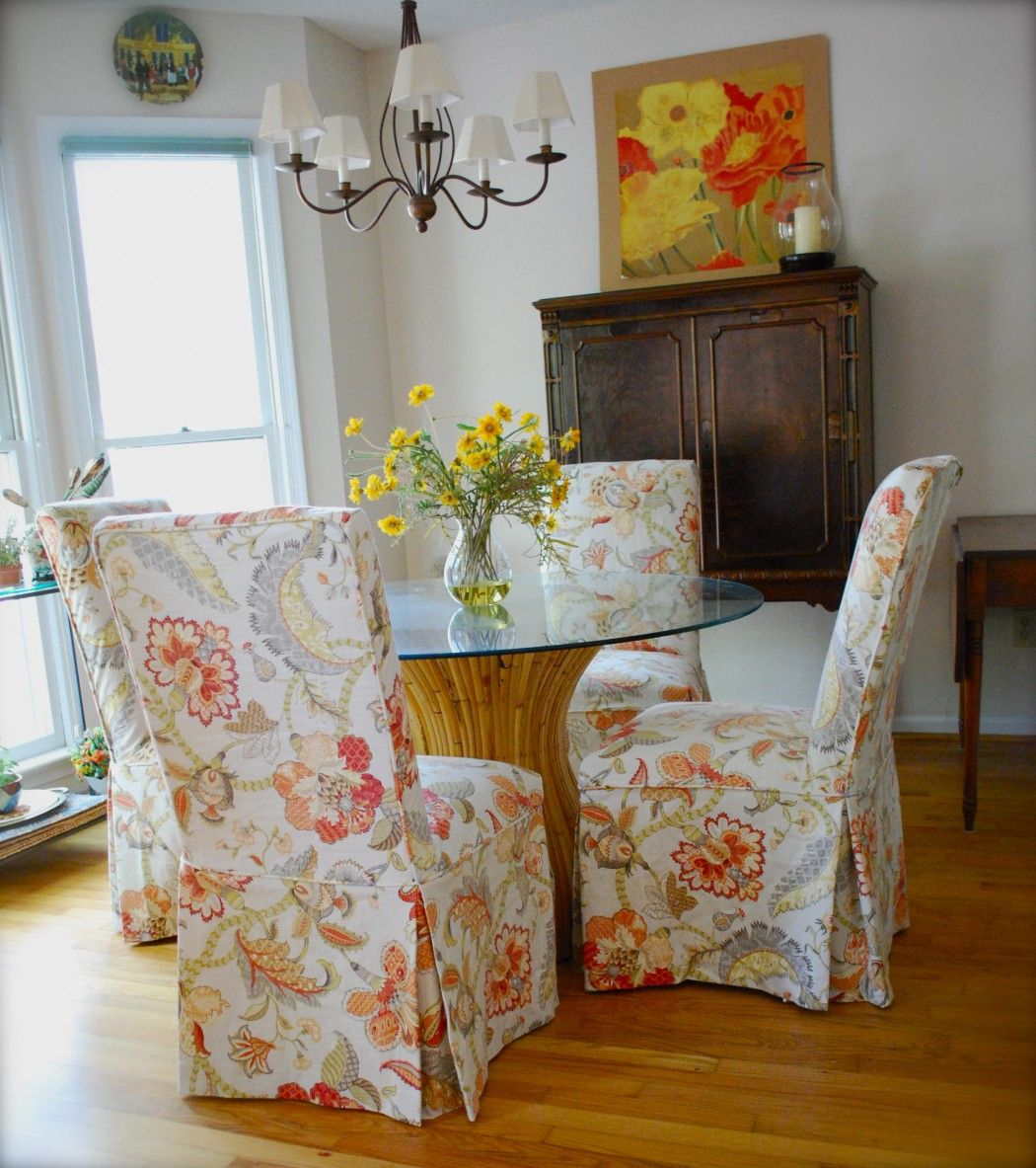 Parson's Chair Slipcovers by Kristi...Pink and Polka Dot