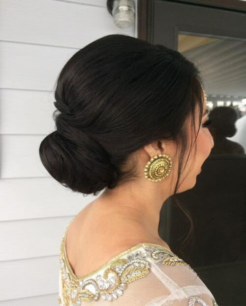 Low Bridal Hair Bun For Short Hair Bridal Hair Buns Short Hair Bun Short Wedding Hair