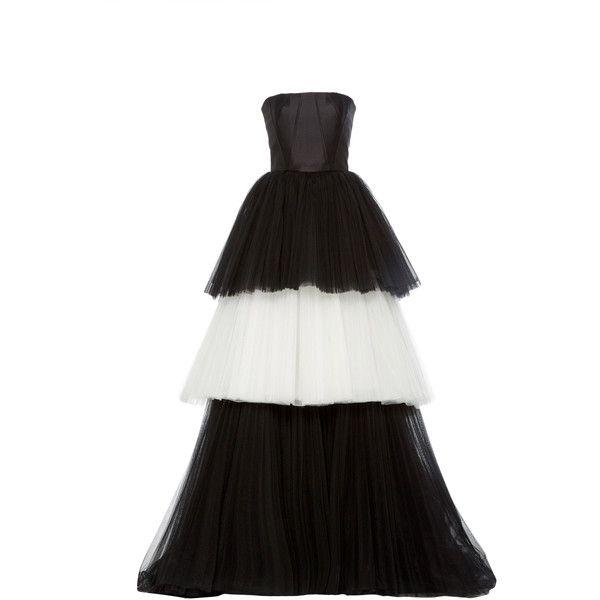 Carolina Herrera Mikado Bustier Tulle Ball Gown (106.235.025 IDR ...