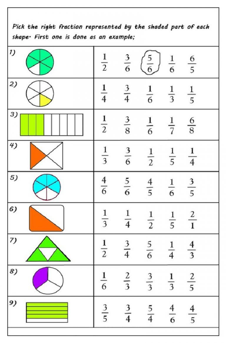 Fractions Worksheets Multiple Choice Math Fractions Worksheets Fractions Worksheets 2nd Grade Math Worksheets