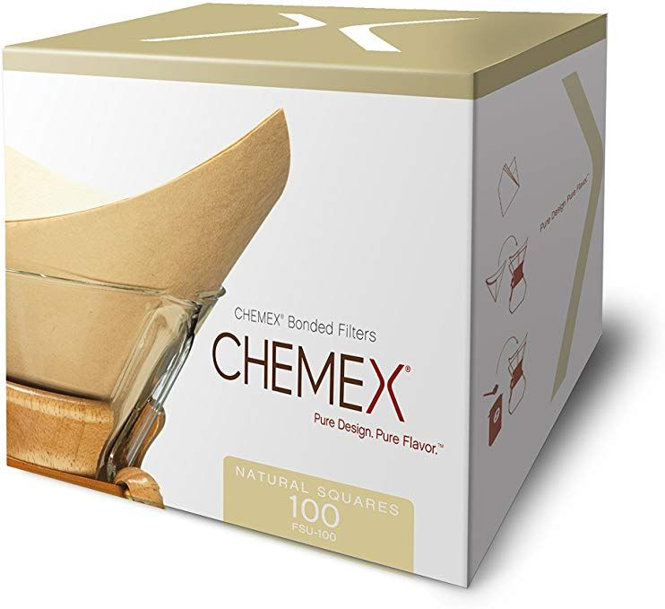 Chemex natural coffee filters square 100 count
