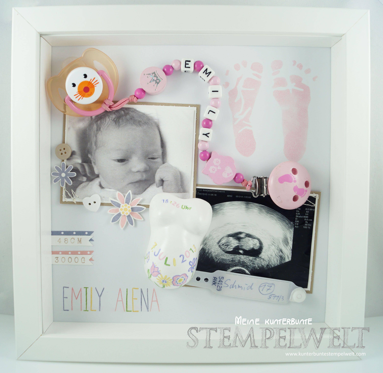 Stampin´ Up!_Baby Erinnerungsbild_Baby Shadowbox_Objekt ...