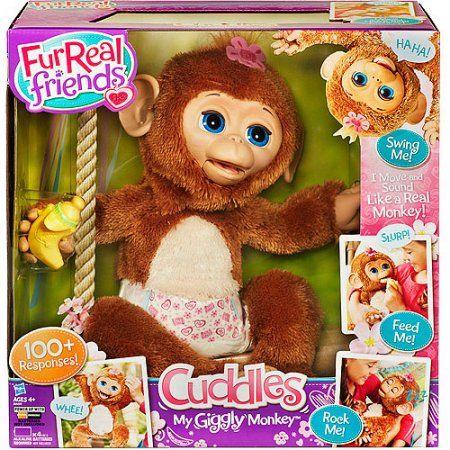 Furreal Friends Cuddles My Giggly Monkey Walmart Com Fur Real Friends Cuddling Christmas Toys