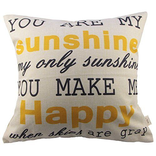 HOSL You Are My Sunshine Cotton Linen Pillow Cover, 17.3 x 17.3-Inch, http://www.amazon.com/dp/B00N7DDYHS/ref=cm_sw_r_pi_n_awdm_emXExbDHD2ZYQ