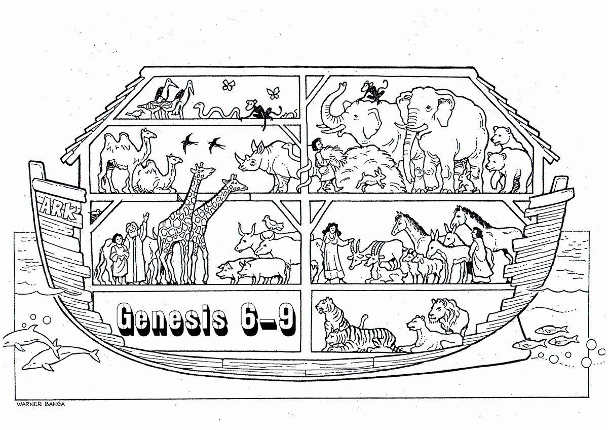 Noah 039 S Ark Coloring Pages Luxury Printable Popular Easy Coloring Noahs Ark Log Wall Christian Coloring Bible Coloring Pages Bible For Kids