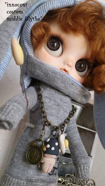 "innocent custom Middie Blythe ""No.7 / mind""  Find her here:   #blythe #blythedolls #customblythe #kawaii #cute #rinkya #japan #collectibles #middieblythe"