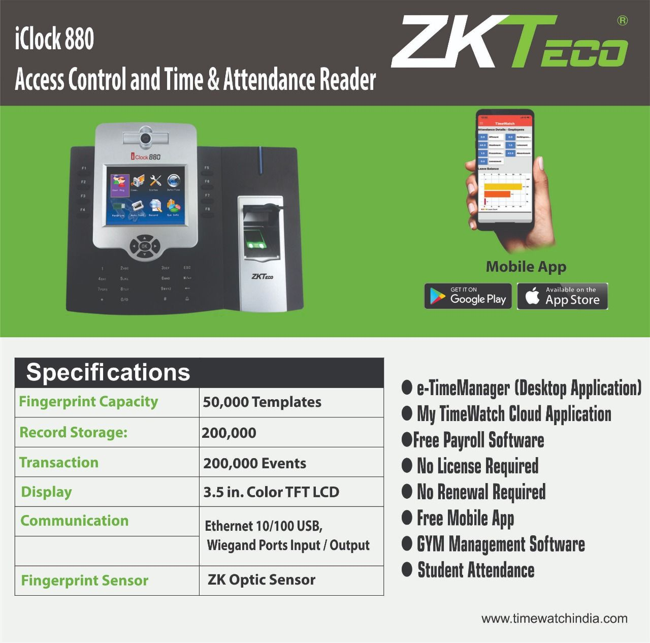We are the certify partner of ZKTeco to provide you the