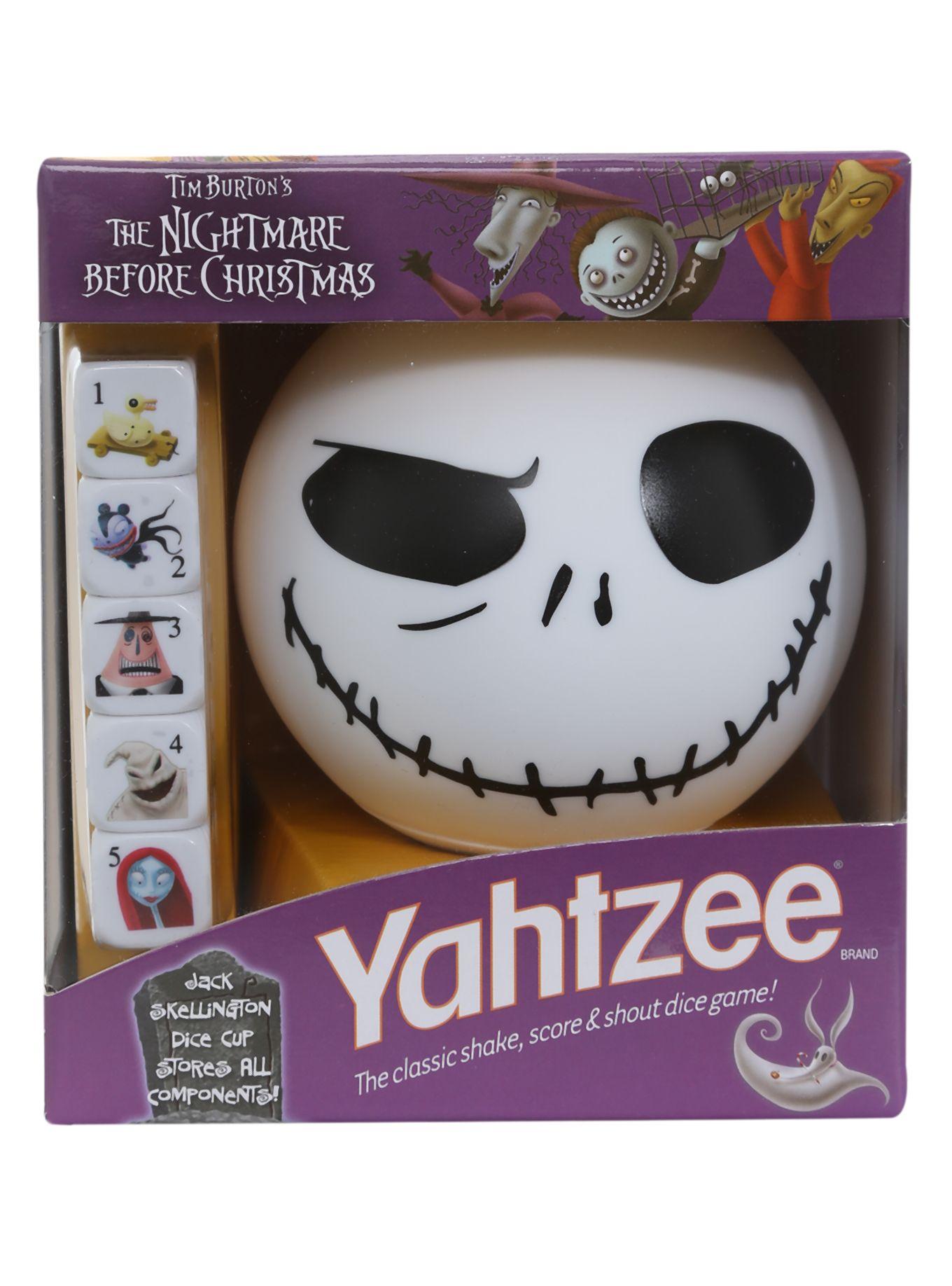 The Nightmare Before Christmas Yahtzee Game | Hot Topic | My Style ...