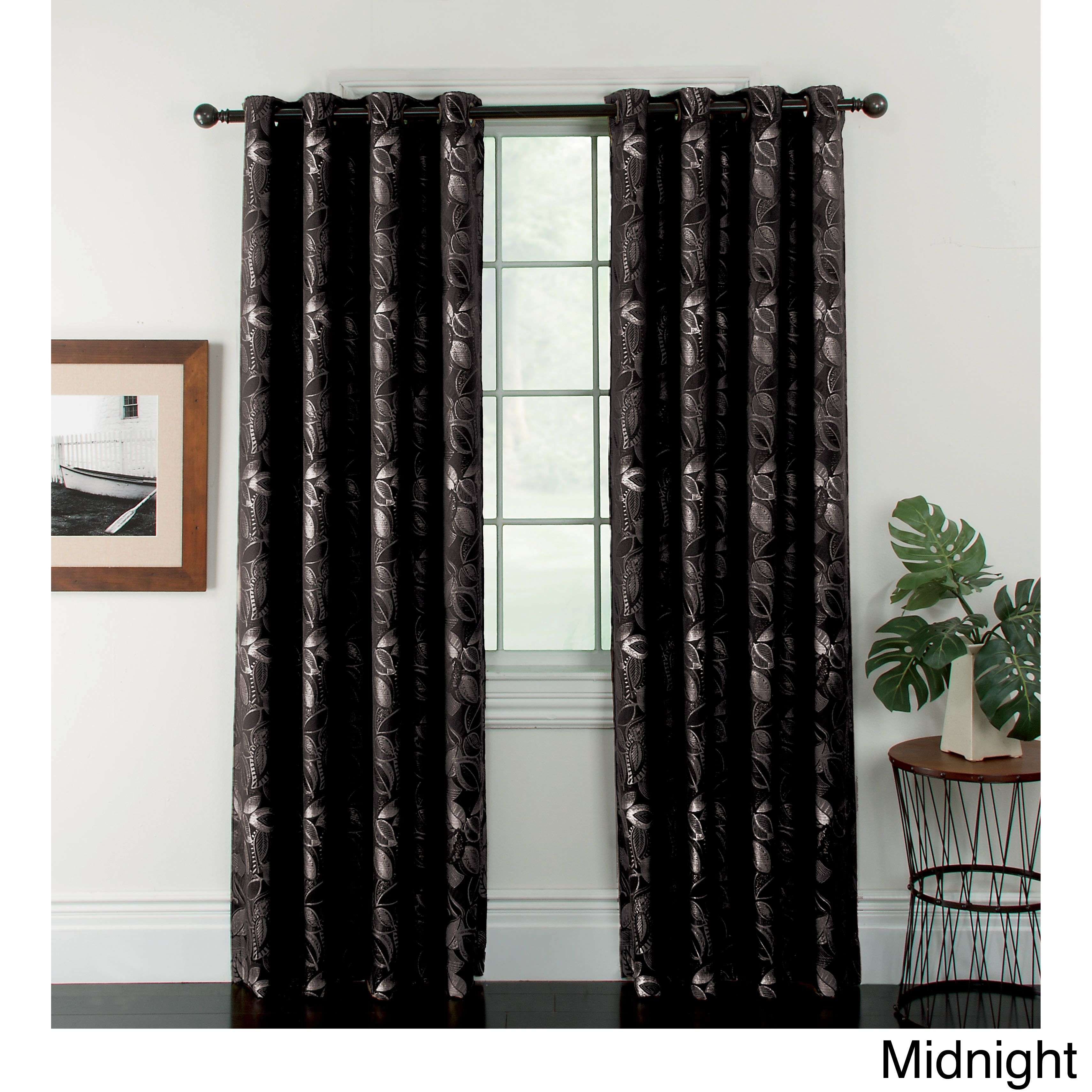 Lees Curtain Company Woven Jacquard Ganset Curtain Panels These