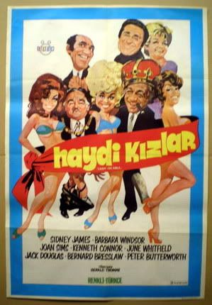 poster Carry On Behind : Vintage comedy Movie advert Wall art Reproduction.