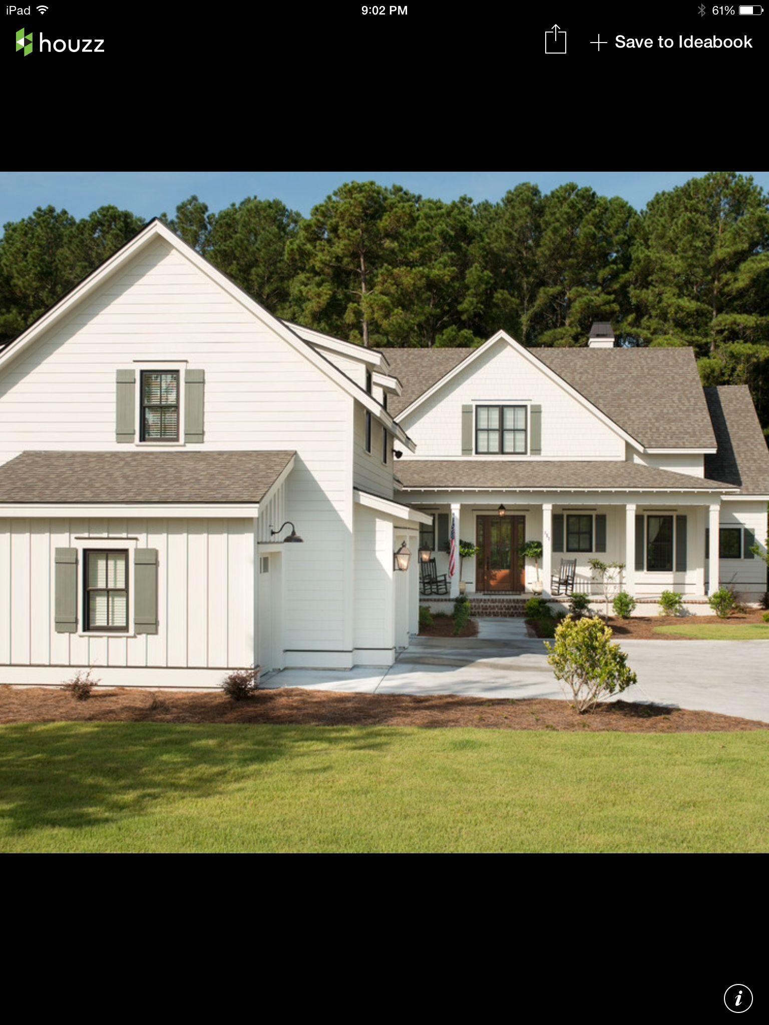 Colors Farmhouse exterior, White farmhouse exterior