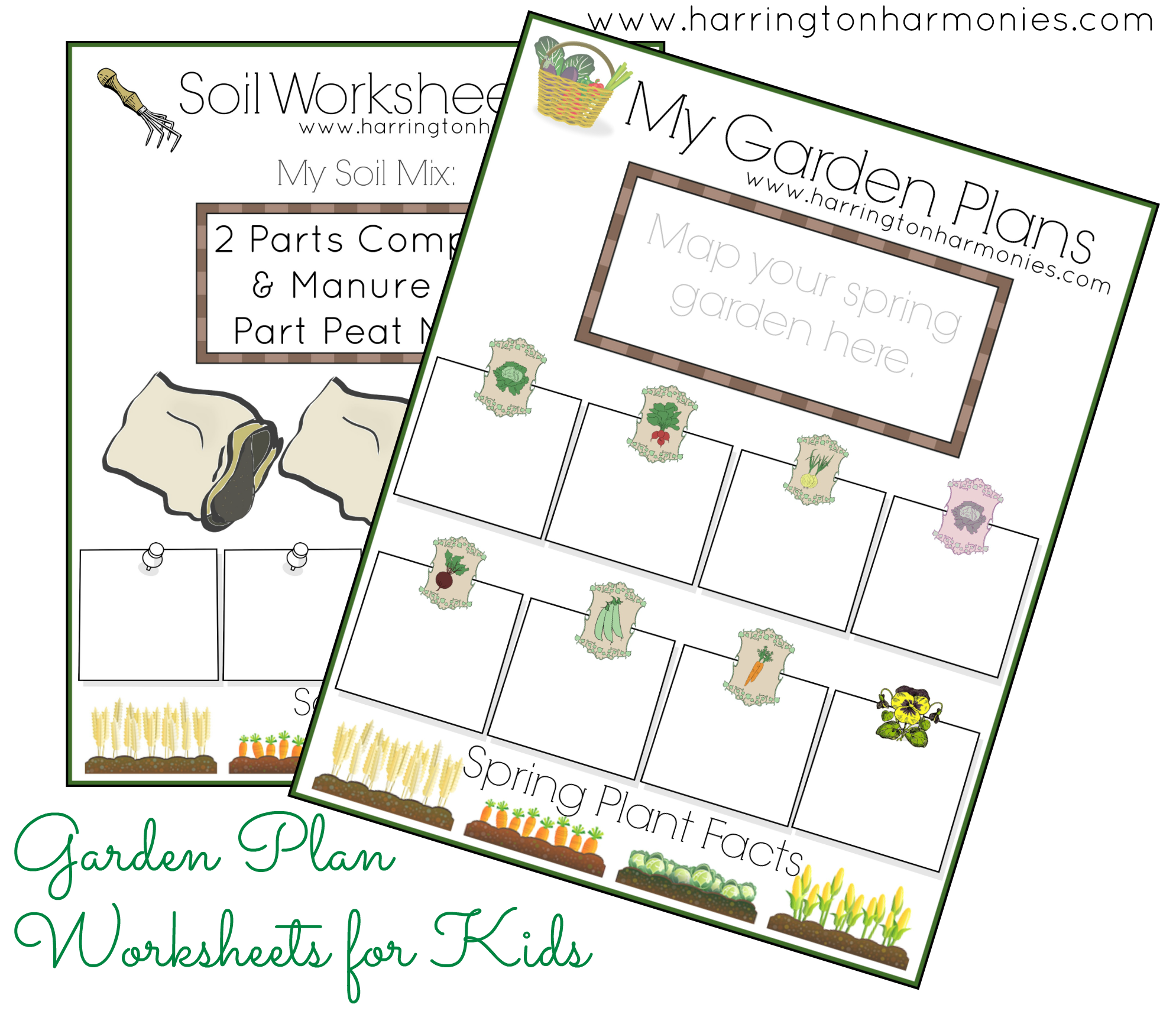 Free Garden Notebook Pages